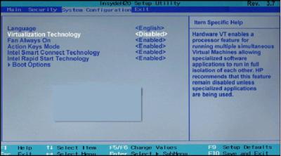 Virtualization technology в БИОСе что это?