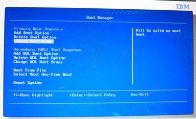 Windows boot manager как убрать в БИОСе?