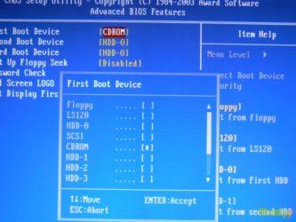 Как отформатировать жесткий диск из БИОСа?