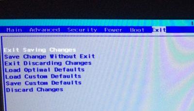 Exit discarding changes в БИОСе что это?